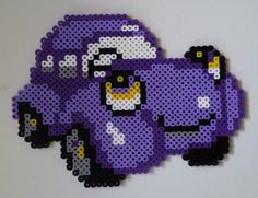 Week 6, Day 37, Vehicle (changed from Sushi from last month), Perler Beads 365 Day Challenge.