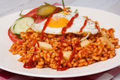 Macaroni met ham en tomatenpuree - Keuken♥Liefde