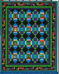 """Safari Snap Shots Quilt Pattern by Whistlepig Creek at KayeWood.com. Contains instructions for creating a Dark and/or Light version of this 72"""" x 88"""" quilt.  http://www.kayewood.com/Safari-Snap-Shots-Quilt-Pattern-by-Whistlepig-Creek-Productions-WPC-SASN.htm $9.50"""