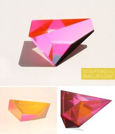 acrylic sculptures by Phillip Low / hat tip to @Shelly Figueroa Priebe & Correct