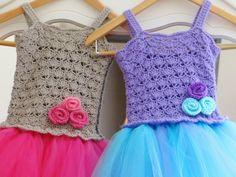 Tutu Dress Crochet Pattern, Crochet Baby Dress Pattern, Pdf Pattern, Newborn to 10 Years