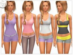 Icia23's Sims 3 Downloads Sims 1, Sims Community, Female Clothing, Clothing Sets, Super Sport, Athletic Wear, Boy Shorts, Outfit Sets, Dress Outfits