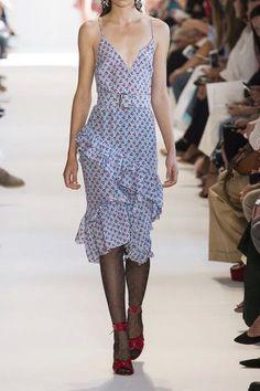 Altuzarra - Corona Ruffled Printed Silk Dress - Sky blue - FR46