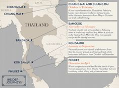 Map: Thailand's climate highlights
