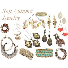 Soft Autumn Jewelry by expressingyourtruth on Polyvore featuring Panacea…