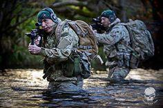 Royal Marines, an amphibious warfare force of the British Royal Navy.