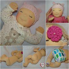 Gledita baby doll - Susie #gleditababydoll Anime Dolls, Waldorf Dolls, Hungary, Baby Dolls, Kids Rugs, Etsy Shop, Cartoon, Handmade, Amigurumi