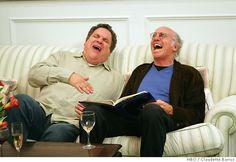 Larry David and Jeff Garlin, legends