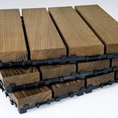 TILE DECKING novathermowood Tile Decking, stable, smooth and suitable for use in all weather conditions, offers a reliable and classy living space for your home and workplace. #tiledecking #deck #decking #architecture #exteriordesign #gardendesign #construction #thermowood #novawood #fsc