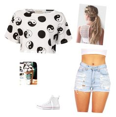 """""""Starbucks"""" by xojazzyxo19 ❤ liked on Polyvore featuring Être Cécile, Converse, women's clothing, women, female, woman, misses and juniors"""
