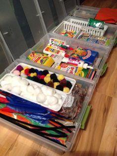 Kid's Craft Organization ~ LOTS of neat ideas!