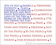 4th of july flag printable