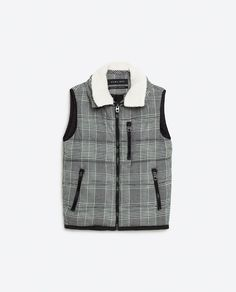 Image 8 of CHECK FLEECE QUILTED WAISTCOAT from Zara 6719/306