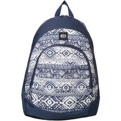 Rip Curl Coastline Desert Backpack (80 AUD) ❤ liked on Polyvore featuring bags, backpacks, accessories, women, navy backpack, padded backpack, rip curl bags, navy blue bag and woven bags