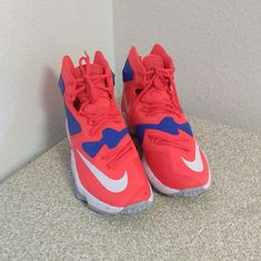 pretty nice 67632 9fafb Nike Shoes   Nike I.D. Lebron James Sneakers   Color  Blue Red   Size
