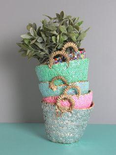 Tiny Sequin Basket - Green