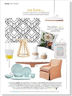 We Love. Clipped from Home Beautiful using Netpage.
