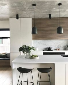 Gorgeous Luxury White Kitchen Design and Decor Ideas - Luxury Kitchen Remodel Kitchen Room Design, Luxury Kitchen Design, Contemporary Kitchen Design, Home Decor Kitchen, Interior Design Kitchen, Home Kitchens, Kitchen Ideas, Luxury Kitchens, Kitchen Designs