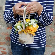 another sweet diy for a May Day basket - this one made from birch bark.