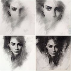 Instagram photo by caseybaugh - Charcoal stages. #art #charcoal
