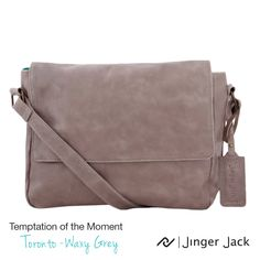 Temptation of the Moment. Jinger Jack TORONTO in Waxy Grey! Available in 4 different colors! Travel Bags, Leather Bag, Messenger Bag, Toronto, Satchel, In This Moment, Purses, Wallet, Grey
