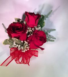 Send flowers directly from a real local florist. Fresh flowers, same-day delivery. Send Flowers, Fresh Flowers, Local Florist, Red Ribbon, Flower Delivery, Corsage, Flower Designs, Red Roses, Special Events