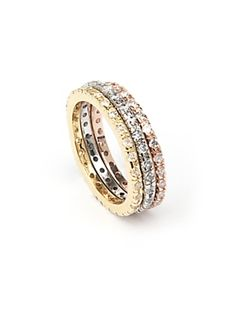 #intermix i die for this. Lisa Freede EXCLUSIVE Gold Laser Cut Eternity Band Set