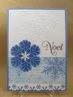 Savvy Handmade Cards: Noel Blue Snowflake Card