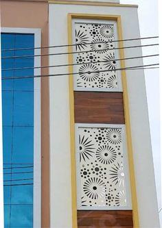 Home Gate Design, Front Gate Design, House Front Design, Home Design Plans, Balcony Grill Design, Balcony Railing Design, 3 Storey House Design, Duplex House Design, Cnc Plasma