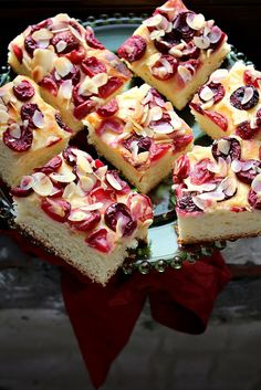 almond cake with cherries
