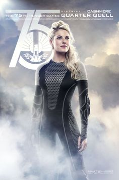 Hi-res version of Cashmere's (Stephanie Leigh Schlund) 75th (Quarter Quell) Hunger Games character poster.