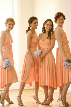 Bridesmaids Orange Bridesmaid Dresses Beautiful Peach Pastel Wedding