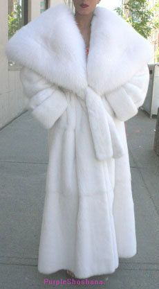 Glamorous Snow White Female Mink Fur Coat M...SERIOUSLY...do people still wear coats like this???
