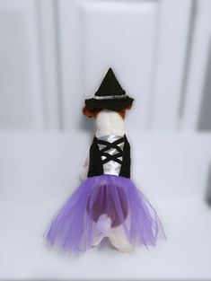 Excited to share this item from my shop: Dog Witch Costume, Dog Costume, Dog Halloween Costume, Pet Witch Costume Small Dog Costumes, Pet Halloween Costumes, Cool Halloween Costumes, Purple Tutu, Cute Little Dogs, Your Dog, Cotton Fabric, Witch, Pets