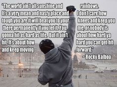 Its about how hard you can get hit and keep moving forward.