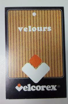 Etiquette Velcorex - Velours