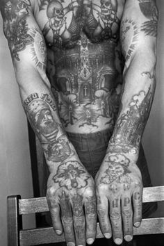 Russian Prison Tattoos. Every tattoo has a meaning.