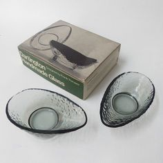 2 Dartington Handmade Glass Advocado Dishes Boxed Frank Thrower 3 Sets Available Dartington
