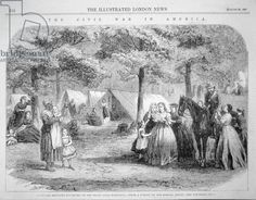 Southern refugees encamped in the woods near Vicksburg, from 'The Illustrated London News', 29th August 1863 (engraving). | In the Swan's Shadow