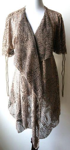 Pretty Angel Vintage Boho Brown Long cardigan-earthy, breezy, effortlessly chic #PrettyAngel #Cardigan