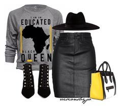 """Untitled #1682"" by visionsbyjo ❤ liked on Polyvore featuring rag & bone/JEAN, Filù Hats and Balenciaga"