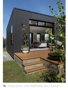 7 Modern House Plans Samples – Modern Home House Cladding, Exterior Cladding, Facade House, Container Home Designs, Shed Homes, House Extensions, House Colors, Exterior Design, Future House