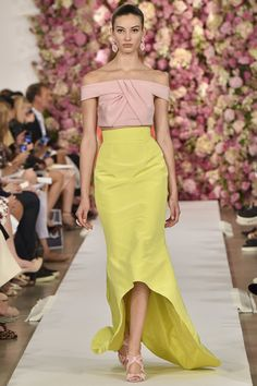 Oscar de la Renta spring 2015 collection - love the colors