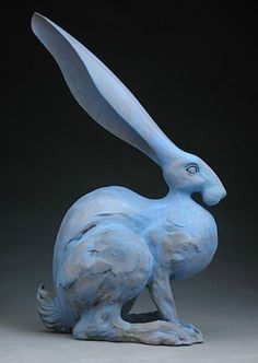 I love his forms, the exaggeration in force, in grace and in whimsey of artist   Steve Eichenberger's sculptures.