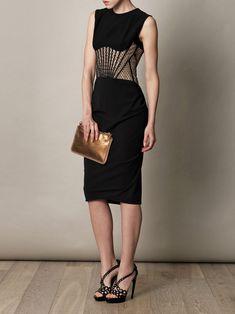 ALEXANDER MCQUEEN Corset-lace detail dress