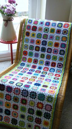 Crochet chairs on pinterest stool covers chair - Crochet chair cover pattern ...