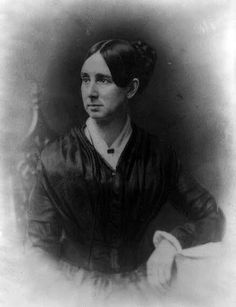 """A photo of Dorothea Lynde Dix. Daughter of Joseph Dix and Mary Bigelow, she was born on April 4, 1802 in Hampden, Maine. In 1821, Dorothea opened a school in Boston for wealthy families but she also taught poor children in their homes. She had recurring heath issues that eventually led to her touring Europe for """"rest and relaxation."""" While in Europe, she became interested in working on equal rights for the mentally ill and when she returned to the U.S., she brought her interests with her."""