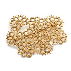 Brigitte Adolph - Gold Pansy Brooch - ORRO Contemporary Jewellery Glasgow