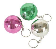 Disco Ball Discoball Keychain Key Chain