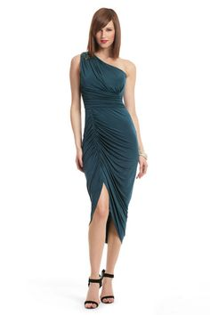 rent the runway - DAVID MEISTER  Daring Deep Emerald Dress